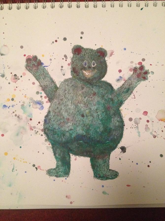 Katarina Prior. #3 Pete the Bear #100daysofcreatures