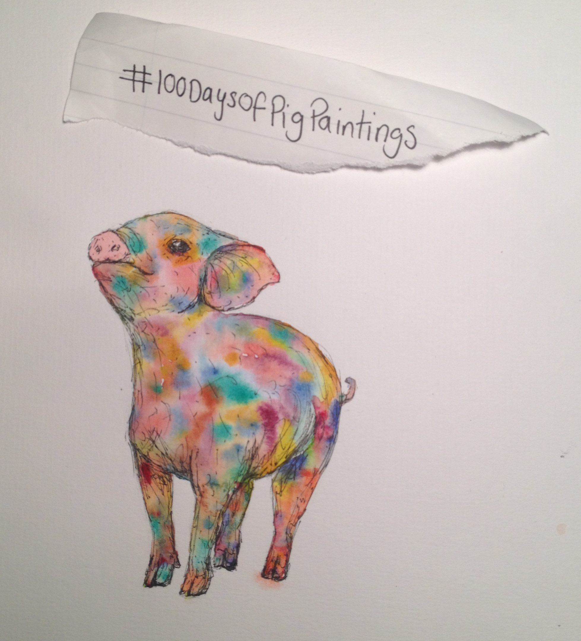 #100Daysofpigpaintings